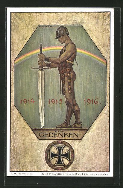 Künstler-AK sign. F. M. Pfeiffer: