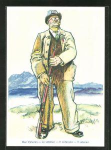 Künstler-AK Luzern, Eidg. Schützenfest 1939, Veteran