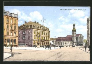 AK Luxembourg, Place de la gare, Bahnhof