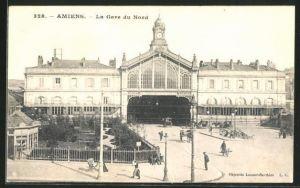 AK Amiens, La Gare du Nord, Bahnhof