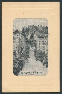 Seidenstick-AK Badgastein, Motiv aus dem Ort