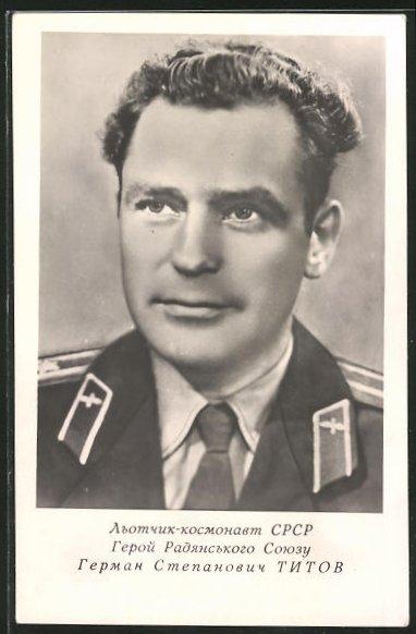 AK Portrait sowjetischer Kosmonaut German Titow