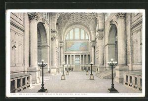 AK New York, NY, Main waiting Room, Pennsylvania Station, Bahnhof