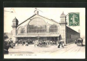 AK Le Havre, La Gare, Partie am Bahnhof