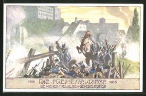 Künstler-AK Ernst Kutzer: Freiheitskriege 1806-1815, die Wiener Freiwilligen bei Edelsberg