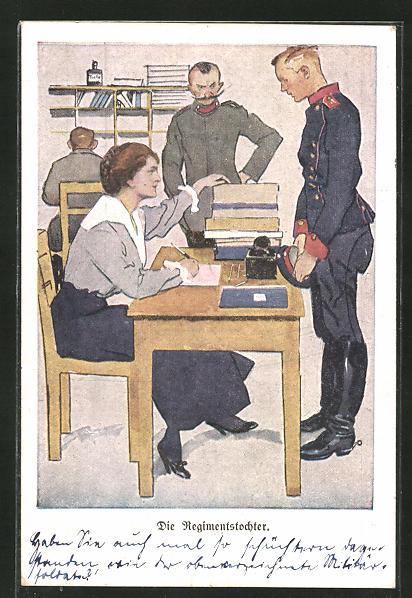 Künstler-AK Ernst Heilemann: diie Regimentstochter