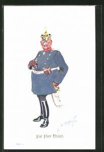 Künstler-AK Fritz Schönpflug: Der Herr Oberst, Karikatur