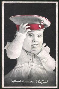 AK Kleinkind mit Krätzchen,