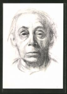 Künstler-AK Käthe Kollwitz: Selbstbildnis der Künstlerin 1937