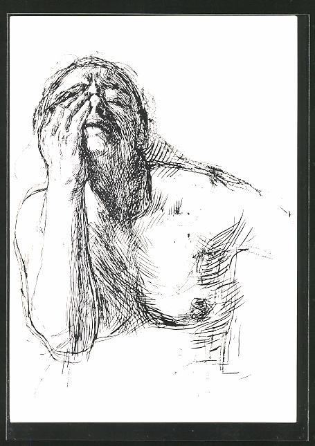 Künstler-AK Käthe Kollwitz: Studie zu