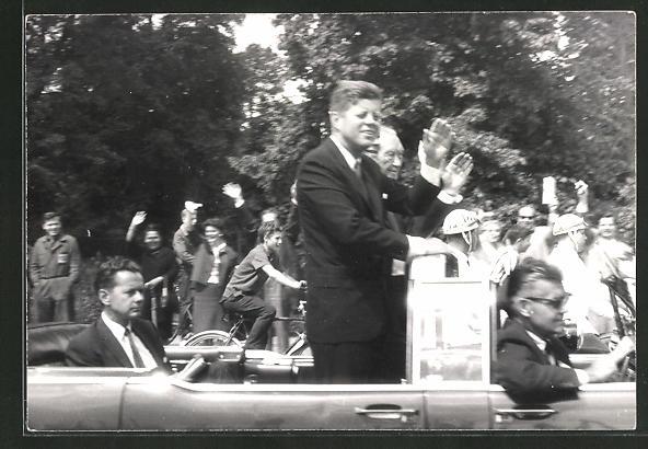 AK Präsident der USA Kennedy im offenen Auto
