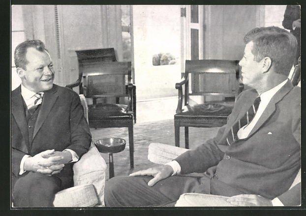 AK Präsident der USA Kennedy im Gespräch mit Willy Brandt
