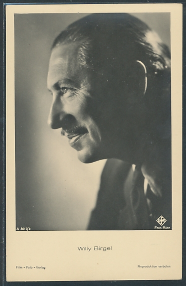 AK Schauspieler Willy Birgel lächelnd zur Seite blickend