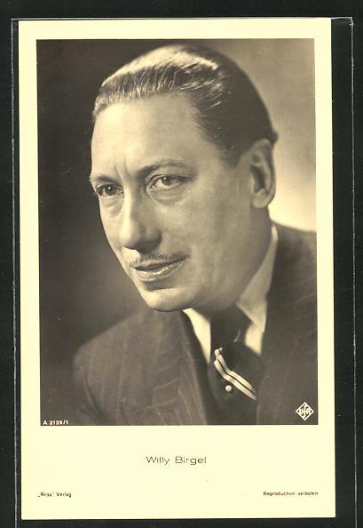 AK Schauspieler Willy Birgel im Anzug zur Seite schauend