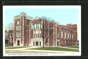AK Muncie, IN, New Library, Indiana State Normal School