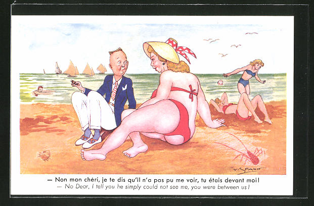 Strand dicke frau am Gemälde Menschen