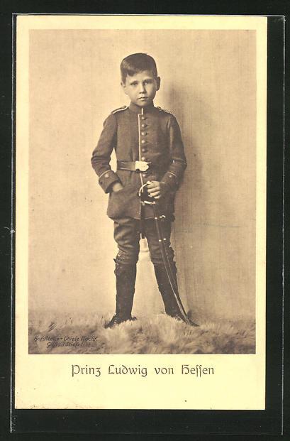 AK Prinz Ludwig von Hessen in Uniform