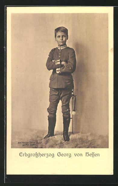 AK Erbgrossherzog Georg von Hessen in Uniform