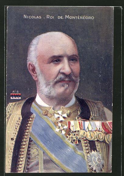 AK Nicolas, Roi de Montenegro, König Nicolas von Montenegro