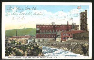 AK Berlin, NH, Burgess Sulphite mill and Swinging Bridge