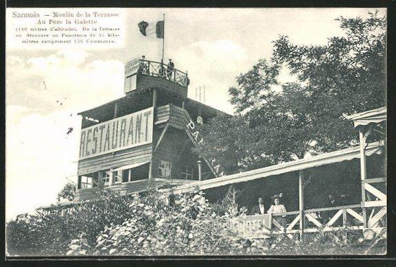 AK Sannois, Moulin de la Terrasse au Père la Galette