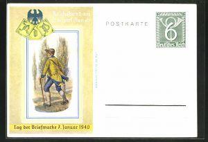 AK Tag der Briefmarke 1940, Reichsbund der Philatelisten, Ganzsache