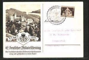 AK Lauenstein, 42. Deutscher Philatelistentag 1936, Reichsbund der Philatelisten, Panorama