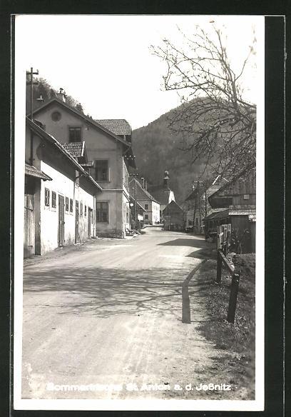 AK St. Anton a. Jessnitz, Strassenpartie im Ort