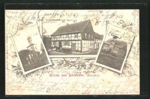 AK Edesheim / Leinetal, Gasthaus Albert Geffert, Traupeshof und Kirche