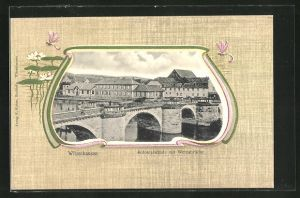 AK Witzenhausen / Werra, Kolonialschule mit Werrabrücke