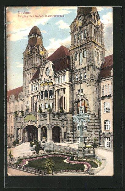 AK Bochum, Eingang des Knappschaftsgebäudes