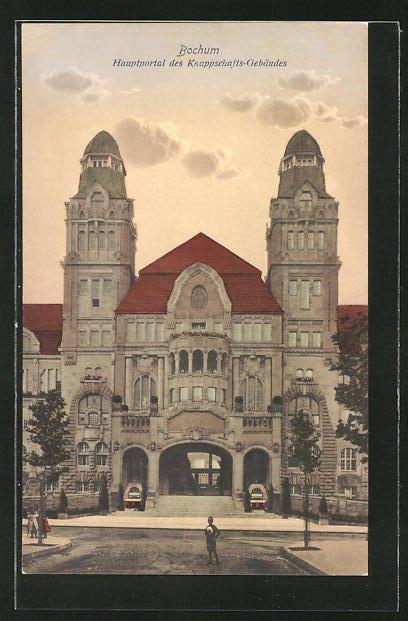 AK Bochum, Hauptportal des Knappschaftsgebäudes