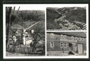 AK Steina / Südharz, Gasthaus zur Erholung, Ortsansicht