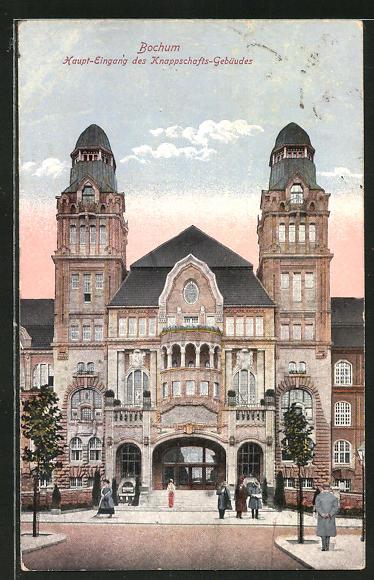 AK Bochum, Haupteingang des Knappschaftsgebäudes