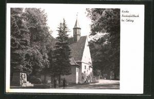 AK Niederfüllbach, Strassenpartie an der Kirche