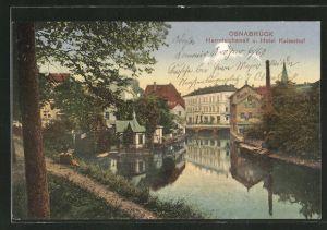 AK Osnabrück, Herrnteichswall & Hotel Kaiserhof