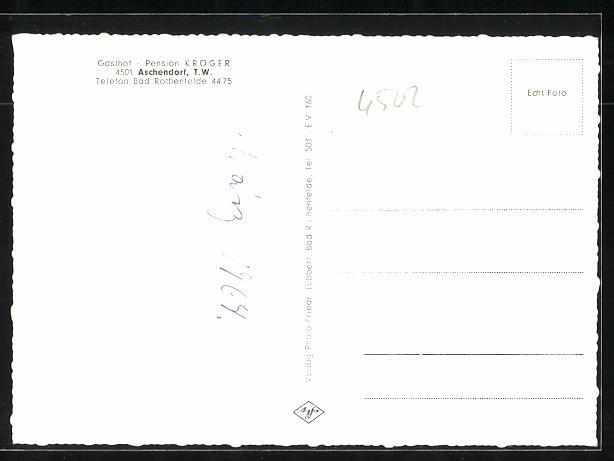 AK Aschendorf / T.W., Gasthaus & Pension Kröger 1