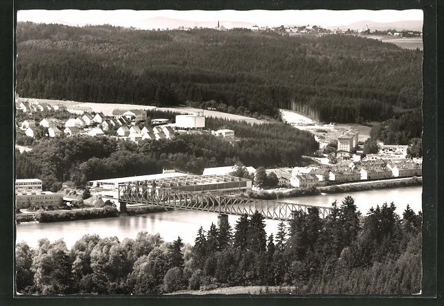 AK Lindau / Donau, Gesamtansicht aus der Vogelschau 0