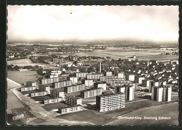 AK Dortmund-Kley, Siedlung Echeloh aus der Vogelschau 0