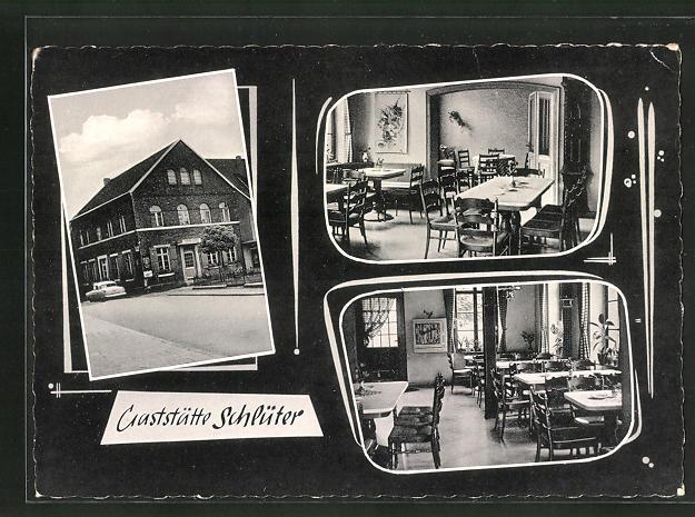 AK Hiddingsel / Westf., Gasthaus Schlüter