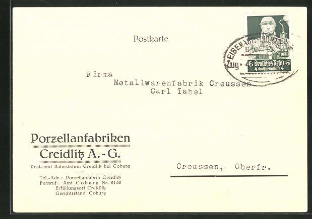 AK Creidlitz, Porzellanfabrik AG 0