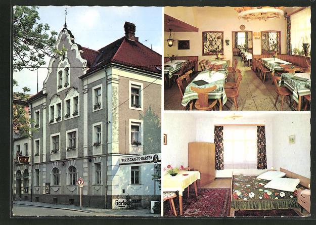 AK Füssen / Allgäu, Hotel Bayerischer Hof, Bahnhofstrasse 3 0