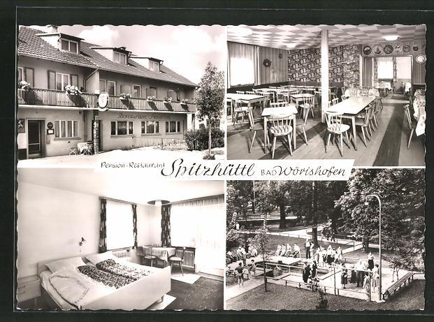 AK Bad Wörishofen, Pension-Café-Restaurant Spitzhüttl, Zugspitzstrasse 8 0