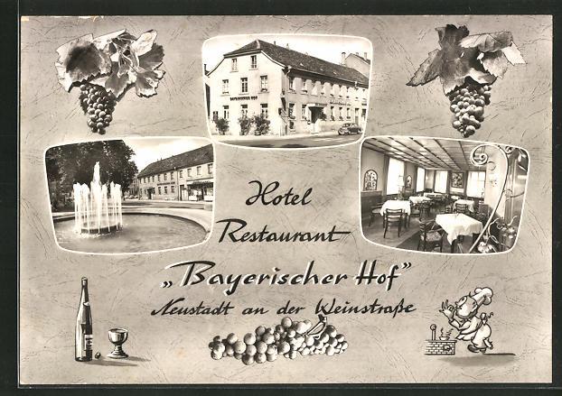 AK Neustadt a. Weinstrasse, Hotel-Restaurant Bayerischer Hof, Landauer Strasse 25-27 0