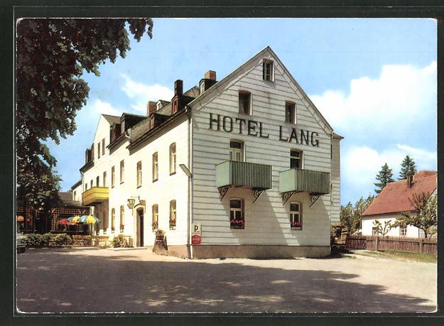 AK Alexandersbad / Fichtelgebirge, Strassenpartie am Hotel Lang 0