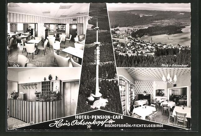 AK Bischofsgrün / Fichtelgebirge, Hotel-Pension-Café