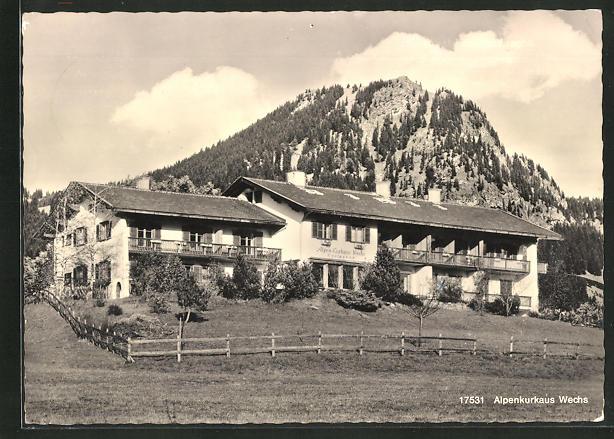 AK Hindelang / Allgäu, Hotel-Alpenkurhaus Wechs 0