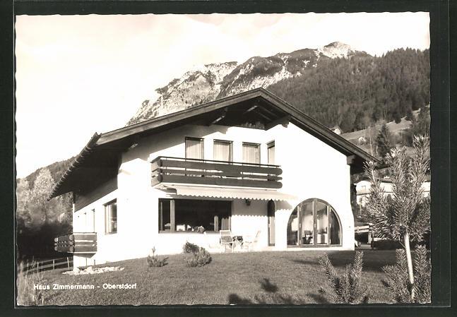AK Oberstdorf / Allgäu, Hotel-Haus Zimmermann, Am First 47 0