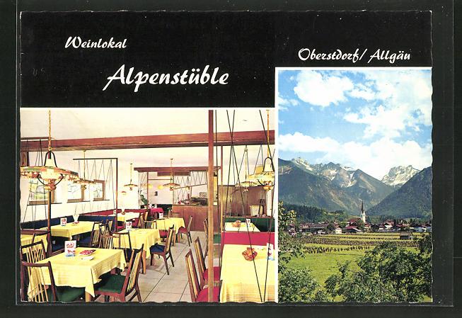 AK Oberstdorf / Allgäu, Café-Weinlokal
