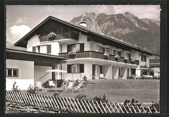 AK Oberstdorf / Allgäu, Hotel-Haus Klein